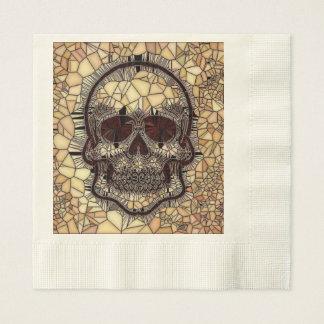 Servilleta Desechable Cráneo de cristal del mosaico, beige