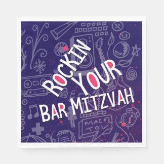 Servilleta Desechable Decoración-Servilletas judías de Mitzvah de la