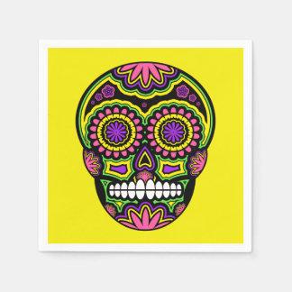 Servilleta Desechable Día mexicano colorido del cráneo del azúcar de los