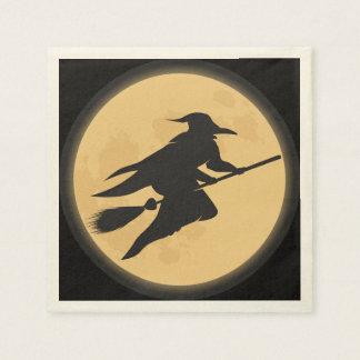 Servilleta Desechable Diseño de la silueta de Halloween del vintage