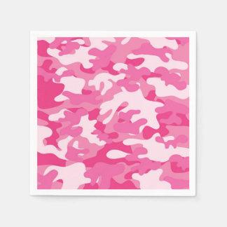 Servilleta Desechable Diseño rosado y blanco de Camo