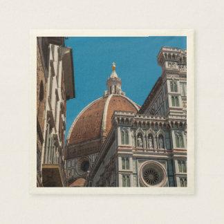 Servilleta Desechable Duomo en Florencia Italia
