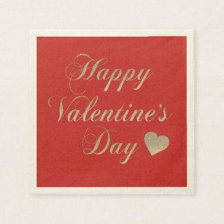 Servilleta Desechable El día de San Valentín feliz