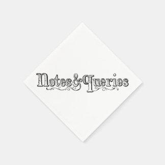 Servilleta Desechable El vintage observa y pregunta Typograph
