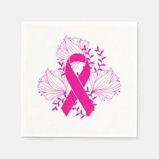 Servilleta Desechable Esquema rosado de la flor de la cinta de la