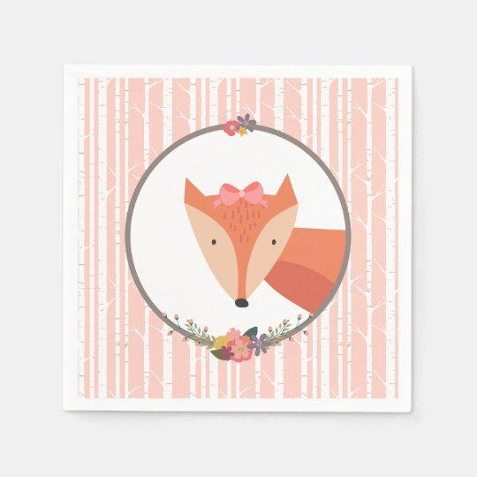 Servilleta Desechable Fiesta de bienvenida al bebé del bebé del Fox