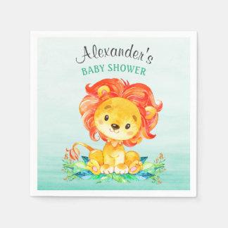 Servilleta Desechable Fiesta de bienvenida al bebé del león de la