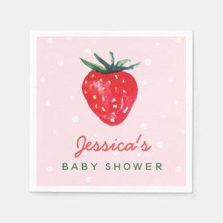 Servilleta Desechable Fiesta de bienvenida al bebé personalizada fresa