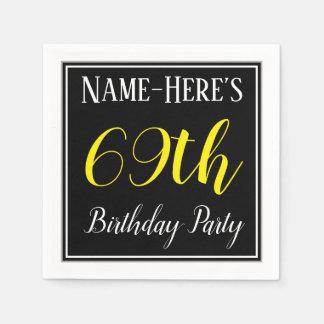 Servilleta Desechable Fiesta de cumpleaños simple, 69.a con nombre de