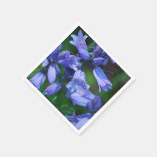Servilleta Desechable Flores de Bell azules bonitas