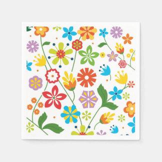 Servilleta Desechable Flores de la primavera