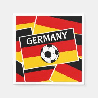 Servilleta Desechable Fútbol de bandera de Alemania