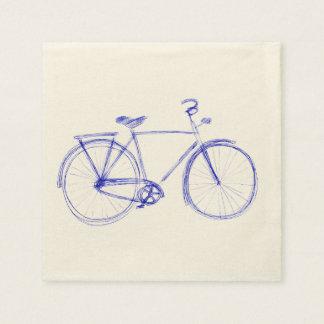 Servilleta Desechable Garabato de la bicicleta