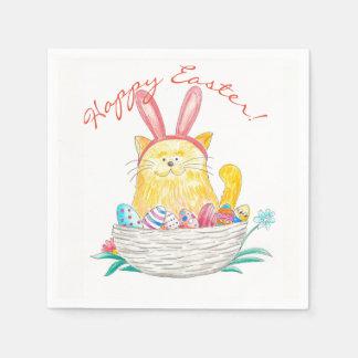 Servilleta Desechable Gatito //Pascua feliz de Pascua