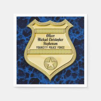 Servilleta Desechable Graduación de la policía de la insignia/fiesta de