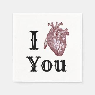 Servilleta Desechable I corazón usted