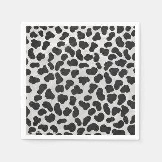 Servilleta Desechable Impresión blanco y negro dálmata