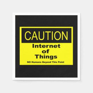 Servilleta Desechable Internet de la señal de peligro de la precaución