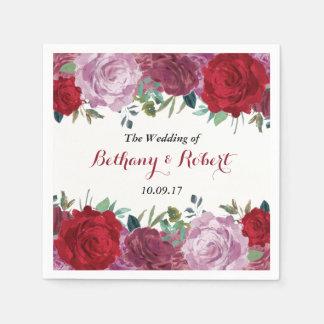 Servilleta Desechable La colección floral romántica del boda
