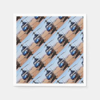 Servilleta Desechable Las mujeres vuelan: helicóptero azul