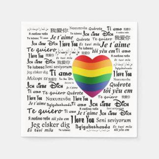 Servilleta Desechable LGBT te amo