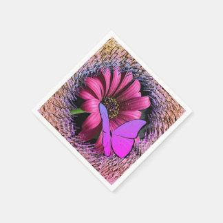 Servilleta Desechable Mariposa en margarita