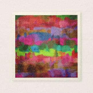 Servilleta Desechable Modelo colorido abstracto de la acuarela