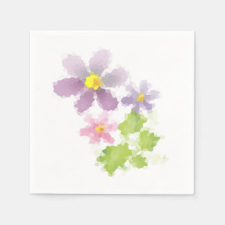 Servilleta Desechable Mosaico 2 de la flor de la flor