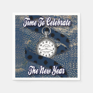 Servilleta Desechable Nuevo año feliz elegante moderno de celebrar