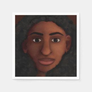 Servilleta Desechable Observación de la mujer negra