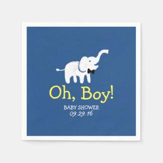 Servilleta Desechable Oh fiesta de bienvenida al bebé de los azules