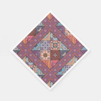 Servilleta Desechable Ornamento de Talavera del mosaico del vintage