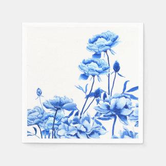 Servilleta Desechable peonies azules
