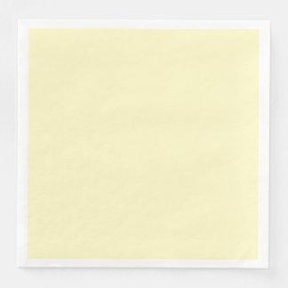 Servilleta Desechable Personalizar del color sólido de la gasa del limón