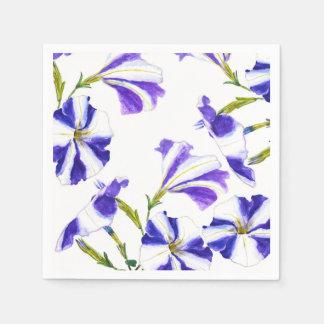 Servilleta Desechable pintura púrpura de la flor de la petunia