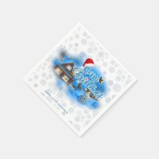 Servilleta Desechable Pueblo mágico del navidad