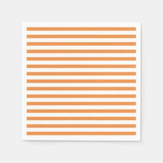 Servilleta Desechable Raya horizontal del naranja y blanca