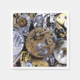 Servilleta Desechable Reloj de bolsillo del Victorian del vintage del