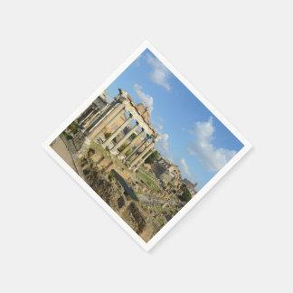 Servilleta Desechable Ruinas romanas en Roma Italia