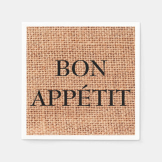 Servilleta Desechable Servilleta del modelo del yute de Appétit del Bon