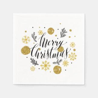 Servilleta Desechable Servilleta simple de las Felices Navidad el | de