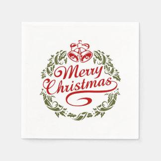 Servilleta Desechable Servilletas de las Felices Navidad