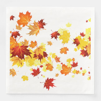 Servilleta Desechable Servilletas de las hojas de otoño