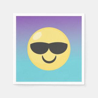 Servilleta Desechable Servilletas del fiesta de Emoji de las gafas de