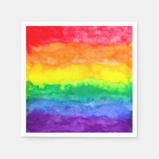 Servilleta Desechable Servilletas del lavado del arco iris
