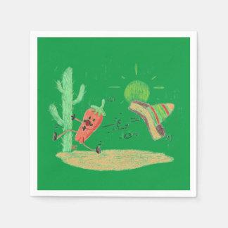 Servilleta Desechable Servilletas divertidas del cóctel del Libro Verde