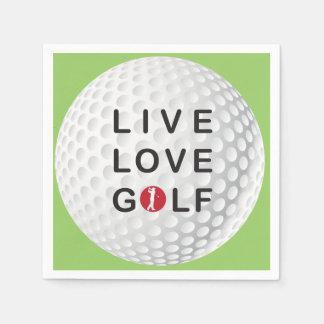 Servilleta Desechable viva, ame las servilletas del golf
