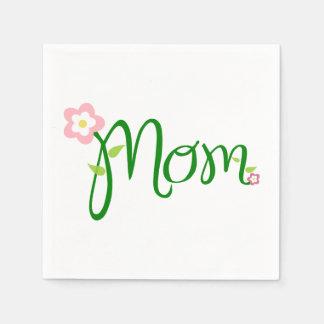 Servilleta estándar blanca del cóctel de la mamá servilletas de papel