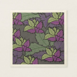 servilleta floral y de hojas servilletas desechables