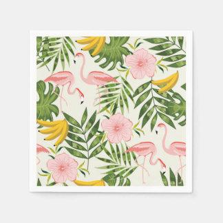 Servilleta tropical del flamenco del verano servilleta de papel